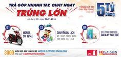 TRẢ GÓP NHANH TAY, QUAY NGAY TRÚNG LỚN: Trúng ngay 01 Honda SH với Home Credit và hơn 3000 giải thưởng trị giá 5 tỷ đồng. #Trả_góp #tragop #vienthonga #Vien_Thong_A