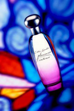 Estee Lauder Pleasures Intense. Perfume bottle design by Pierre Dinard