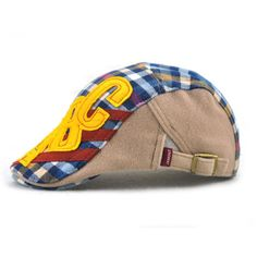 Good-quality Kids Boys Girls Cotton Grid Plaid Letter Cute Berets Hat Patch Flat Cap Casual Outdoor Visor Gorras is cheap, see more kids hats on NewChic. Flat Hats, Hat Patches, Girls, Boys, Kids Hats, Boy Or Girl, Plaid, Cap, Berets