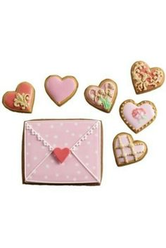 Love shape biscuits