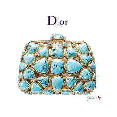 Sfilate - NATALE 2007: DIOR - les minaudières de dior ❤ liked on Polyvore featuring bags, handbags, clutches, purses, blue, blue handbags, christian dior, blue clutches, christian dior purses and blue purse