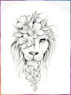 Leo Lion Tattoos, Dope Tattoos, Animal Tattoos, Unique Tattoos, Body Art Tattoos, Tattoo Drawings, Wing Tattoos, Lion Back Tattoo, Tatoos