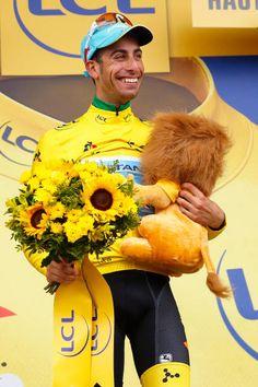 104th Tour de France 2017 / Stage 12 Podium / Fabio ARU Yellow Leader Jersey / Celebration / Pau Peyragudes 1580m / TDF /