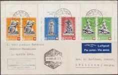 Switzerland 1919-1972, airmail, collection unused / mint never hinged + used, little gaps. As well SBK no. 1 + 2 not expertized, therefore not calculate...