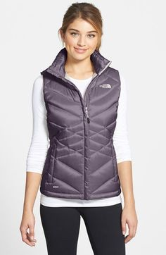 The North Face 'Aconcagua' Down Vest available at #Nordstrom in white small