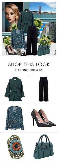 """""""Shein 5"""" by followme734 ❤ liked on Polyvore featuring Carven, Être Cécile, vintage, women's clothing, women, female, woman, misses, juniors and shein"""