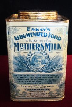 antique ESKAY's albumenized mother's milk tin 100+ years old rare VG condition #eskay