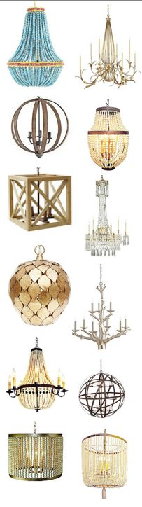 collection of mod glam chandeliers crystal -- vintage modern mid-century eclectic glam lux lush hollywood regency chippendale gold silver metal boho bohemian eclectic interior design home decor inspiration guide