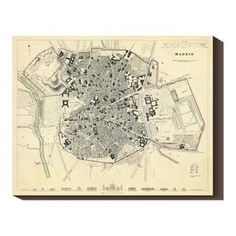 Madrid 1831 40x32 Map, $164, now featured on Fab.