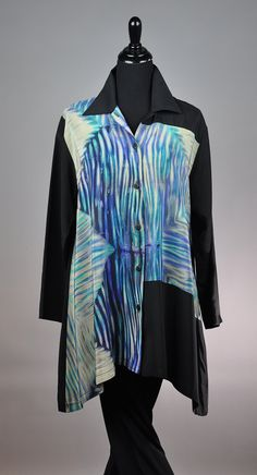 Pieced Arashi Shibori Orchid Blouse by Michael Kane: Silk Blouse  SOLD  My Sisters Circus in Chicago