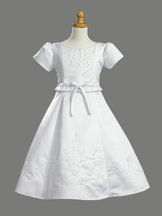 LDS Baptism Dresses for Girls | Details about NWT White LDS Baptismal Dress-First Communion Dress 8