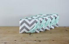 Chevron Print Bridesmaid Bags