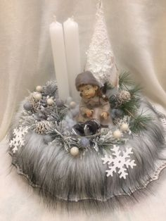 Christmas Candle Decorations, Christmas Flower Arrangements, Custom Christmas Ornaments, Christmas Candle Holders, Snowman Decorations, Christmas Candles, Christmas Wreaths, Christmas Crafts, All Things Christmas