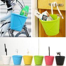 US $9.89 Free shipping hanging sundries storage bucket hanging basket storage hanging basket tpe made soft storage basket. Aliexpress product