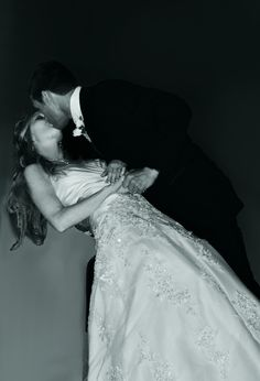 Taylor and Sonja First Kiss - Wedding Photo
