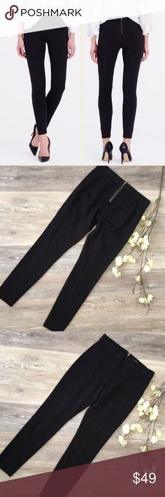 "J. CREW BLACK PIXIE PANTS J. Crew black pixie pants in excellent condition. Size 8 regular: 30"" waist, 36"" length, 29"" inseam. Fabric: 62% viscose, 32% nylon, 5% spandex. No trades and a smoke free home. Thanks for stopping by our closet.💕🌻💕 J. Crew Pants Leggings"