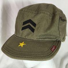 425abaa2101 A. Kurtz AK002 Fatigue Green Men s Small Fitted Cap New Military Cadet Hat   AKurtz