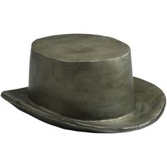 """""""Monopoly"""" Gentleman's Hat Game Token Sculpture (135 CAD) ❤ liked on Polyvore featuring home, home decor, hats, grey home decor and gray home decor"""
