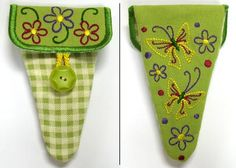 Butterfly Scissors Case - Sm (In-the-Hoop) gift for friends who sew or embroider