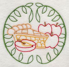 Fresh Apple Pie  (Vintage)  at Embroidery Library! -