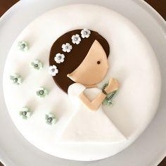 decoracao de primeira comunhao bolo menina