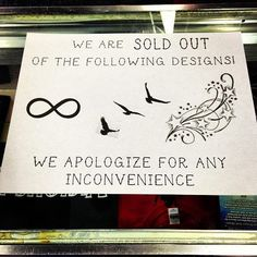 bahahahah. Sold out of these tattoo designs. Be original, trendy ink.