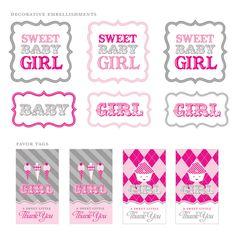 girl baby shower free printable