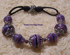 Items similar to Paper Bead Bracelet- Made To Order- Chose Your Beads on Etsy Make Paper Beads, Paper Bead Jewelry, Bead Jewellery, Fabric Jewelry, How To Make Beads, Jewelry Crafts, Beaded Jewelry, Beaded Bracelets, Bracelet Making