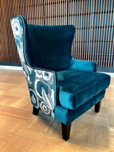 Gorgeous new fabric selections on our June chair!  #sofaland #madeincanada
