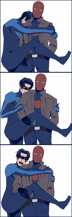 Nightwing. Red Hood. These dorks. <3