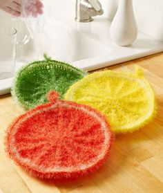 Splash of Citrus Scrubby Free Crochet Pattern LW5158