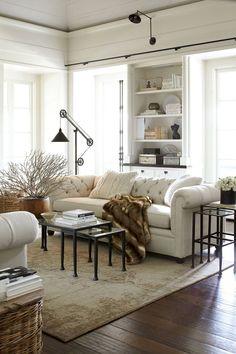 66 best farmhouse living room remodel ideas (31)