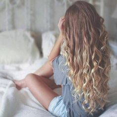 """*тυмвlr pιcѕ нere* on Instagram: """"NO JOKE HAIR GOALS ? the ombré the... ❤ liked on Polyvore featuring beauty products, haircare, hair styling tools and curly hair care"""