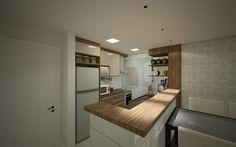 Projeto de Cozinha Integrada_por Studio Conica