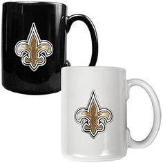 New Orleans Saints 2pc Coffee Mug Set