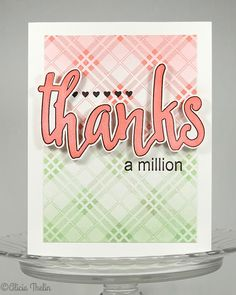 Thanks a Million Thanks A Million, Concord And 9th, Greeting Cards Handmade, Thank You Cards, Cardmaking, Stampin Up, Thankful, Paper Crafts, Neon Signs