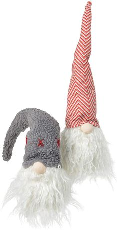 Amazon.com: TII Set of 2 Christmas Plush Santa Gnomes in Charming Hats, Shelf Sitter Gnomes, 16 inches High: Home & Kitchen Purple Gold, Red And Pink, Wood Angel, Gnome Hat, Wood Vinyl, Collectible Figurines, Stars And Moon, Wood And Metal, Candy Cane