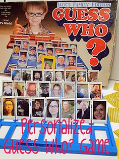 "personalize an old board game like ""guess who"" with family photos"