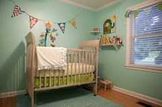 Project Nursery - Turquoise and Lime Green Nursery