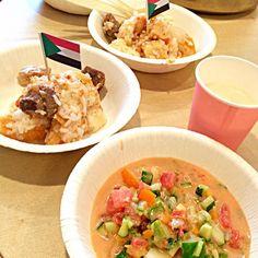 今日はスーダン料理でした。 美味しかったです! バオバブのジュース、生まれて初めて飲んだ\(^o^)/ #cflat #cafe #OSAKA #shinsaibashi #心斎橋 #南船場 #カフェ #英会話