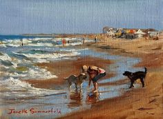 "Daily Paintworks - ""Afternoon at Sandbridge II"" - Original Fine Art for Sale - © Jonelle Summerfield"