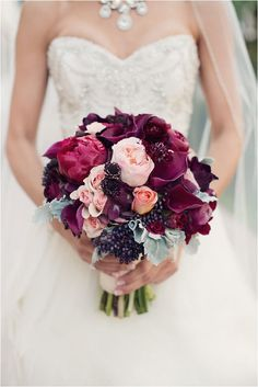 blackberry bridal bouquet - Joshua Aull Photography