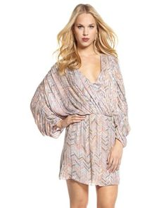 Parker chevron print dress