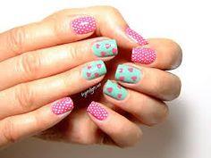 Resultado de imagen para uñas decoradas azul turquesa