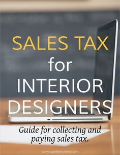 Sales Tax Basics for Interior Designers — Capella Kincheloe - sales tax basics for interior designers. Your guide for collecting and paying sales tax. Diy Interior, Interior Design Career, Interior Decorating Tips, Contemporary Interior Design, Interior Design Services, Decorating Ideas, Decorating Bedrooms, Simple Interior, Interior Designing