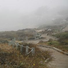 The boardwalk at Moonstone Beach, Cambria, California