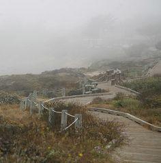 The boardwalk at Moonstone Beach, Cambria, California