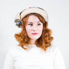 vintage 1940s Glenover wool hat #hat #vintage #1940s
