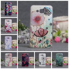 Fashion Abstract Flower Painting Soft TPU TPU Capa Case For Samsung Galaxy J7 J 7 J 7008 J700F Cartoon Fundas Phone Cases
