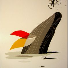 Whale illustration by Riccardo Guasco